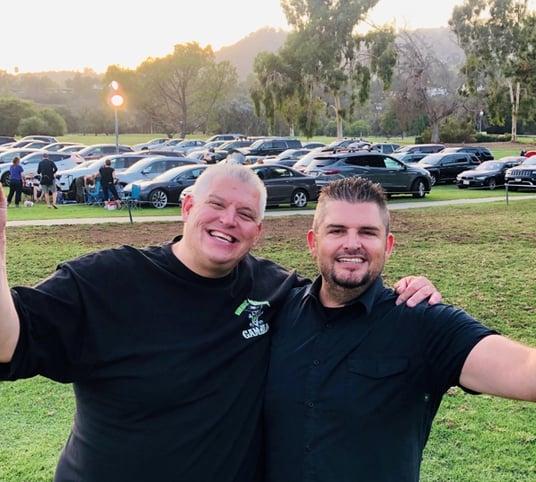 Bryan(right) and Scott(left) Oksas