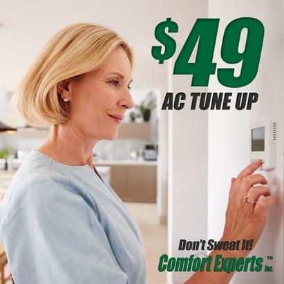 $49 AC Tune Up Facebook Ad